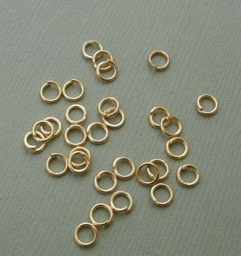 Jumprings Gold Plated Heavy Strong OD-5mm 100pcs.