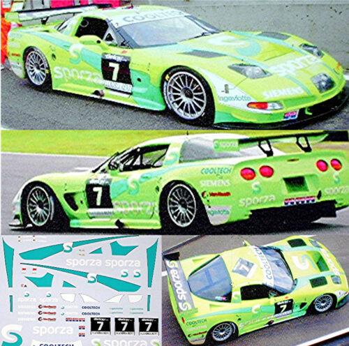 Chevrolet Corvette C5R Sporza Belcar 2003 #7-1:43 Decal Abziehbild