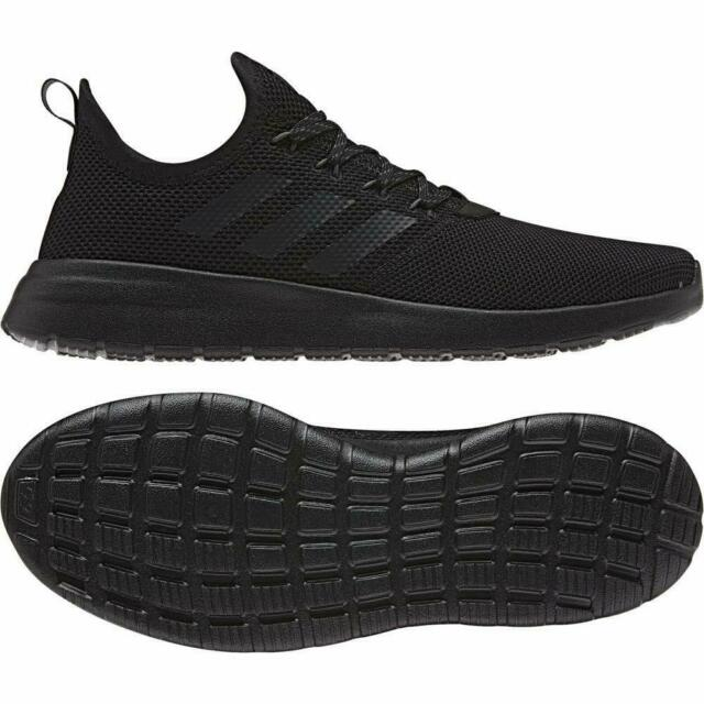Adidas Lite Racer Running Shoes Adult Black Sports Trainers Mens Womens Gym Shoe
