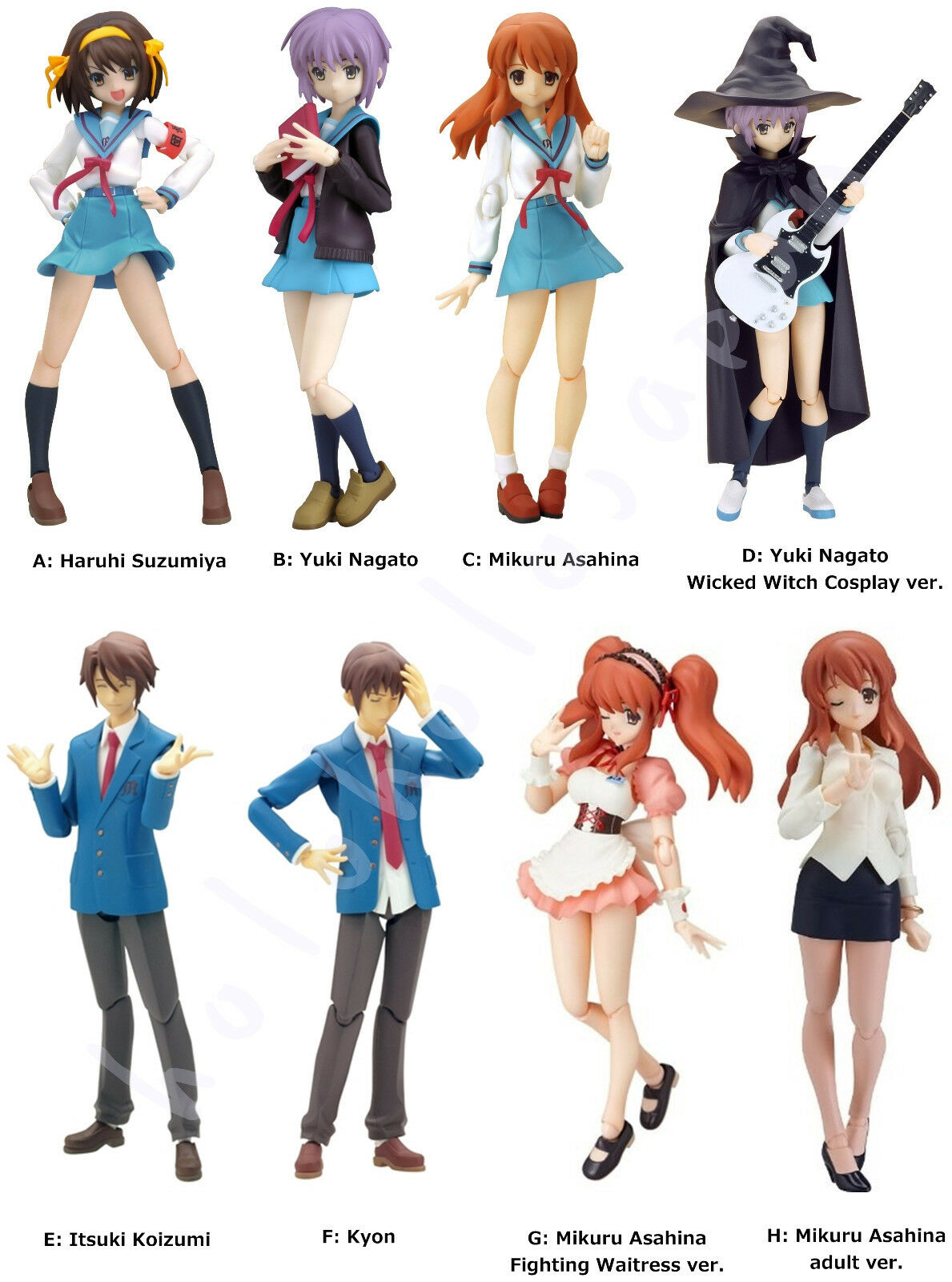 Figma Anime Haruhi Suzumiya Series Characters Action Figure genuine from Japan