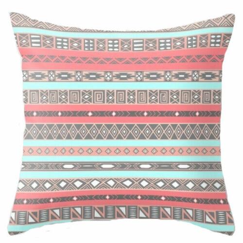 Decor Geometric Cushion Pillow Decoration Linen Cotton Home Cover Bohemian Case