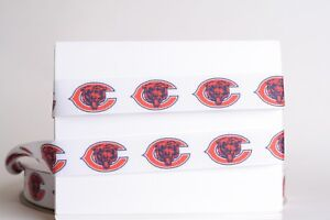 "CHICAGO CUBS 7//8/"" GROSGRAIN RIBBON 1,3,5,10 YARDS BASEBALL SHIP FROM USA"