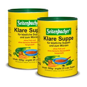 Seitenbacher Klare Suppe ohne Fett vegetarisch Laktosefrei Glutenfrei 2 x 500g
