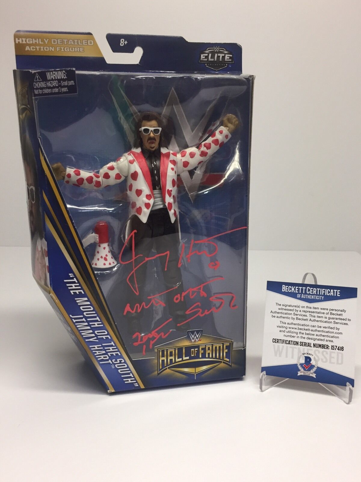 Jimmy Hart Signed WWE Hall Of Fame Action Figure