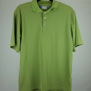 PGA-Tour-Performance-Mens-Size-Small-Golf-Polo-Shirt-Green-Short-Sleeve
