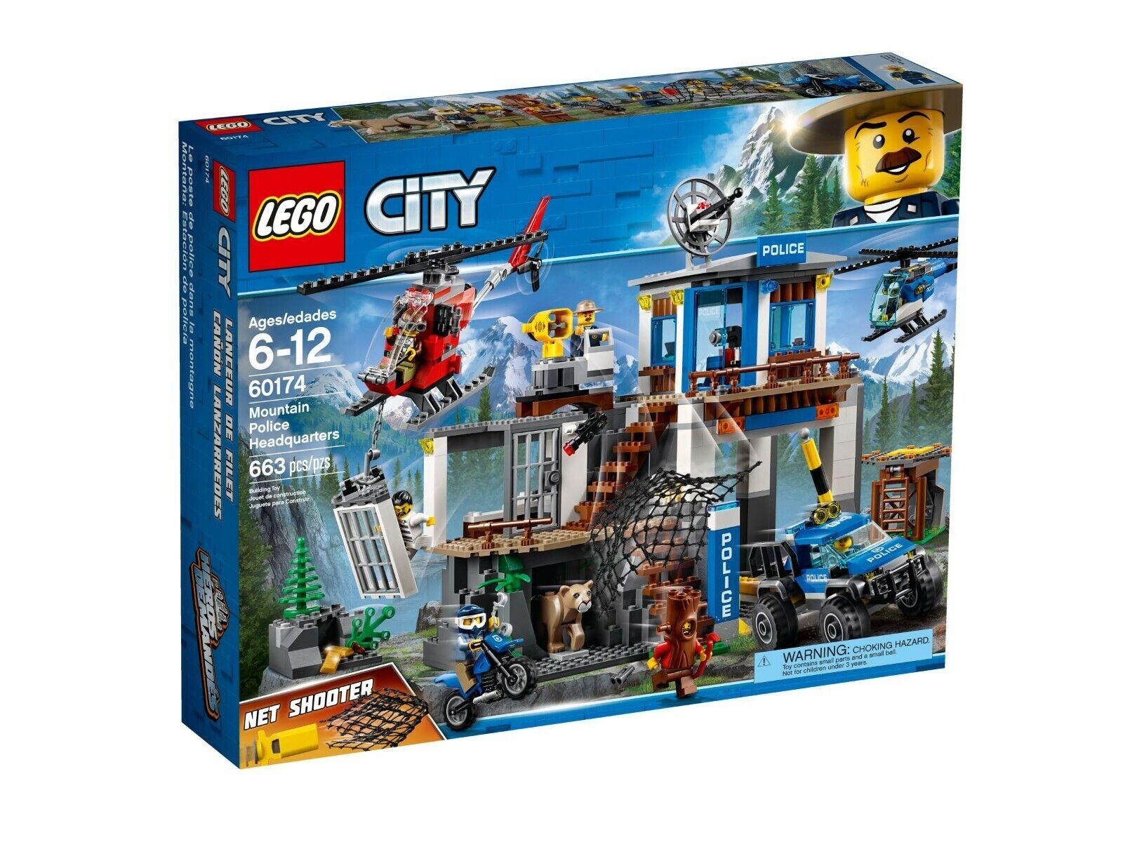 prima i clienti LEGO ® città 60174 quartier generale della della della polizia di montagna Nuovo Scatola Originale  autentico
