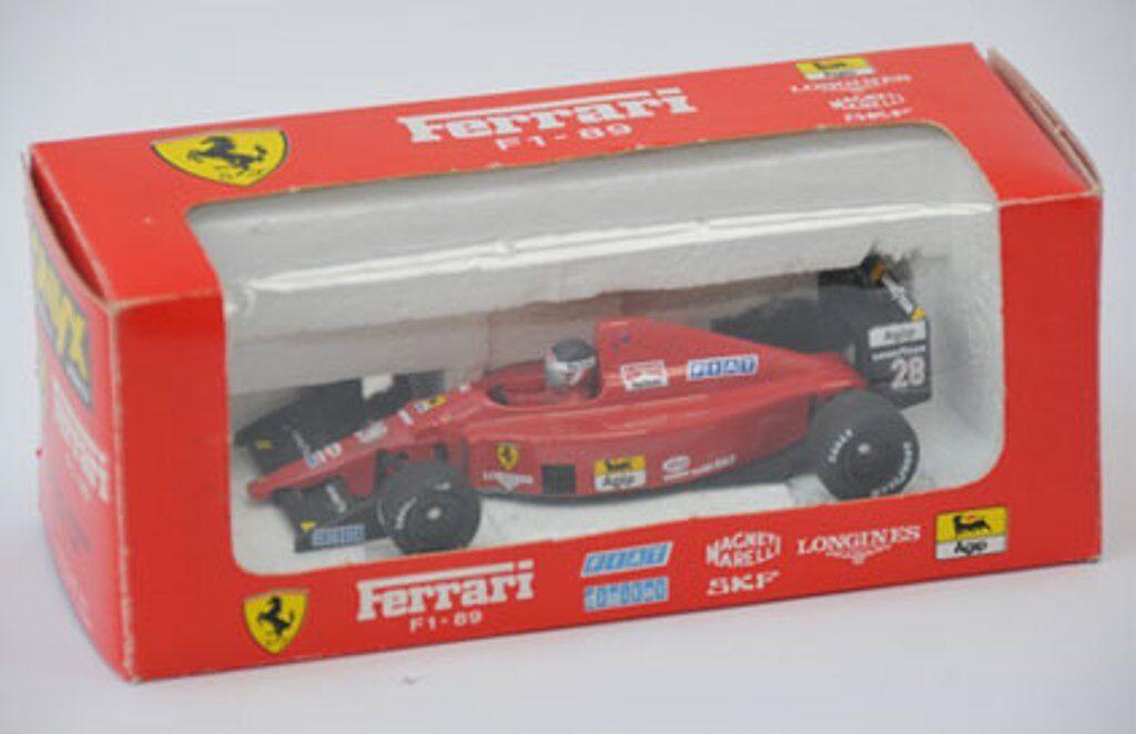 Onyx 028 FERRARI F1 89 ROSSO, F1 pressofusione modello auto racing FIAT / Longine Berger