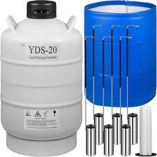 Vevor 20 L Liquid Nitrogen Tank Ln2 Dewar Cryogenic Container 6 Canisters Us