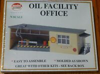 Railroad Building Oil Facility Office Kit 1571 Model Power Train N Scale Hobby Toys