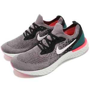 Nike-Epic-React-Flyknit-GS-Grey-Black-Pink-Kid-Youth-Running-Shoes-943311-010