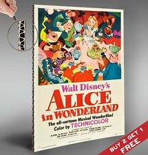 ALICE IN WONDERLAND 1951 Movie Film Poster *A4 Vintage Glossy Photo Print