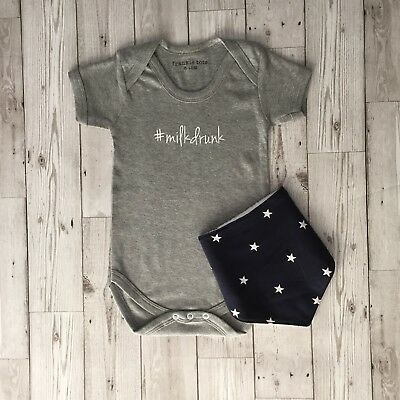 #milkdrunk Baby Bodysuit Babygrow Baby Regalo-mostra Il Titolo Originale Prezzo Basso