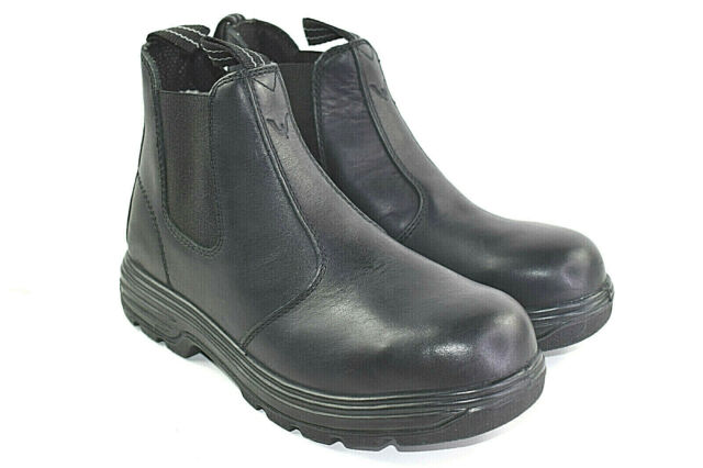 Black leather Chelsea Work Hiking Boots