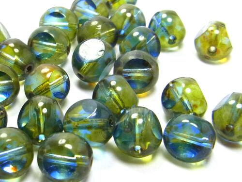 20 x Séquoia perles de verre 2964 bleu-vert; 8 mm