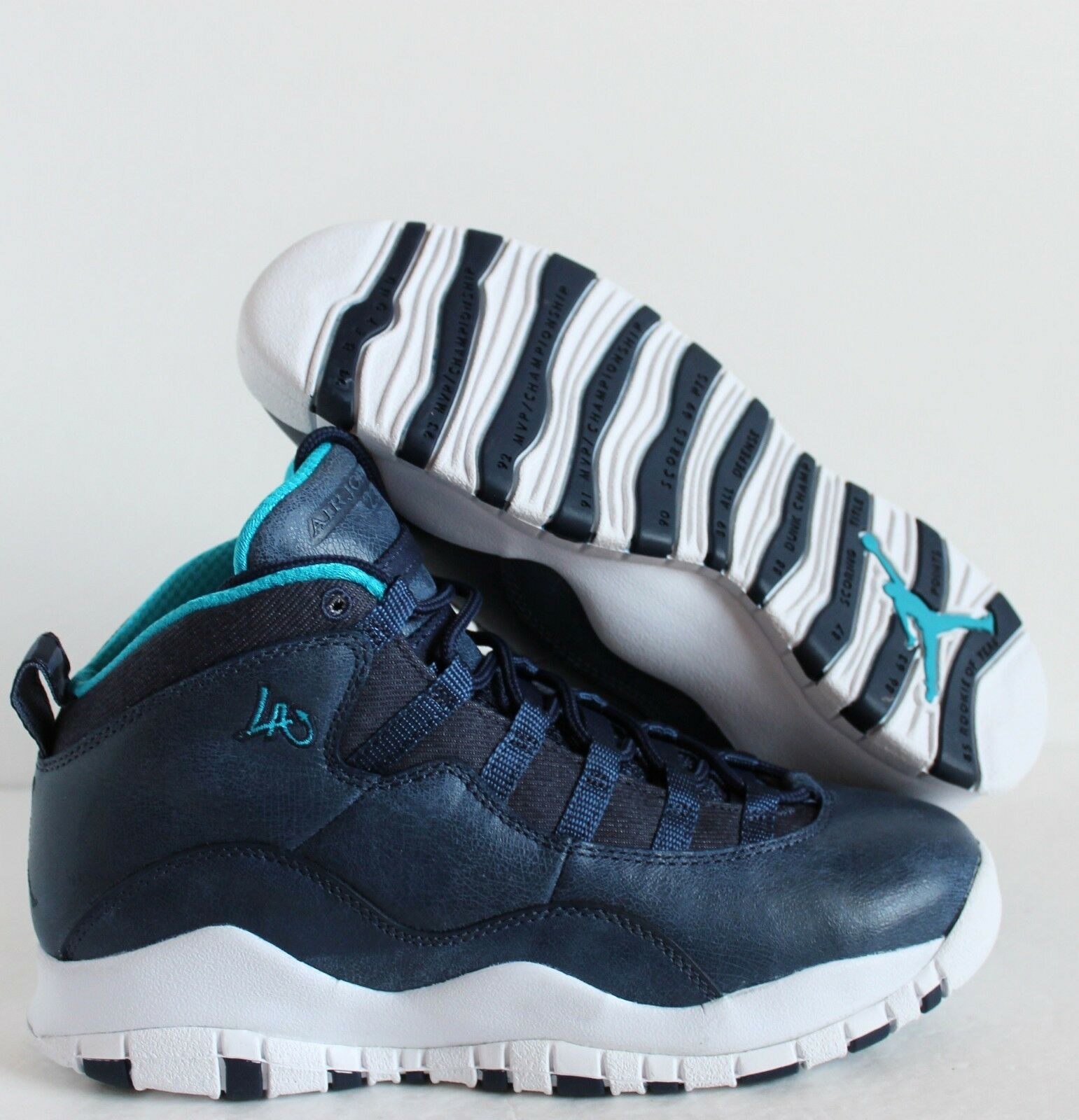 Nike Air Jordan 10 Retro BG Los Angeles City Pack sz 5Y/WMNS  6.5  [310806-404]