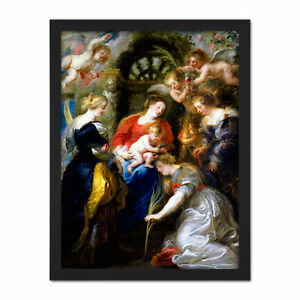 Rubens-Crowning-Of-Saint-Catherine-Large-Framed-Art-Print