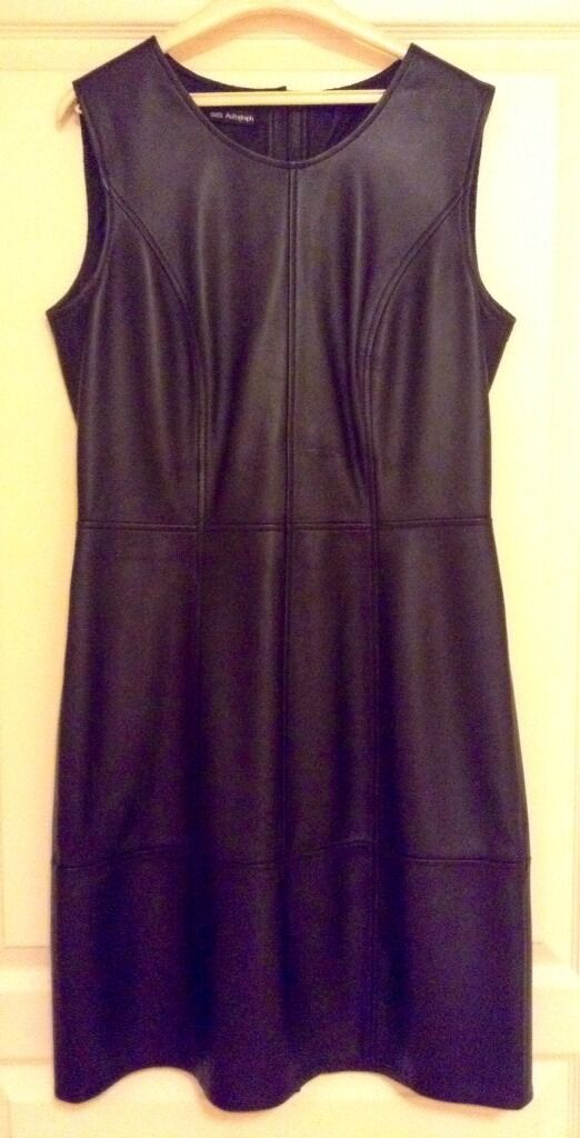Robe cuir AUTOGRAPH MARKS&SPENCER FR 40 leather dress