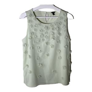 Ann Taylor Womens Top Petite Size LP Sleeveless Scoop Neck Work Blouse Shirt