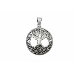 Celtic-TREE-OF-LIFE-Pendant-Necklace-Solid-925-sterling-silver-37mm-Chain-option