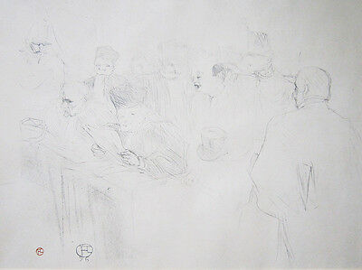 """Henri de TOULOUSE-LAUTREC Original Vintage 1896 Lithograph - """"Procès Arton"""""""