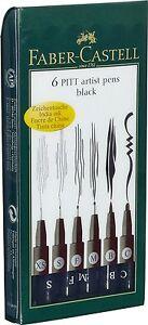 le s, f, m, b Faber Castell Pitt artiste dessin stylos Wallet Set de 4 stylos