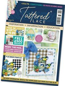 Tattered Lace Magazine Issue 76, Bird and Birdhouse Die, Tartan & flower stamp
