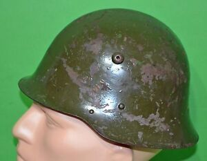 Original-WWII-Bulgarian-36-Model-1936-helmet-with-liner-chinstraps
