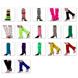 Leg-Warmers-Legging-Socks-Knitted-Womens-Ladies-80s-Dance-Disco-Party-Costume