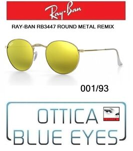 bf4b4598d49f Occhiali da Sole RAYBAN rb 3447 ROUND METAL REMIX 001 93 ray ban ...