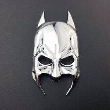 Metal Chrome Batman Mask Logo Badge Car Rear Trunk Silver Emblem Decal Sticker