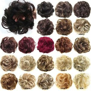 Synthetic-Hair-Flexible-Scrunchie-Wrap-For-Wave-Curly-Hair-Bun-Ponytail-44-Color