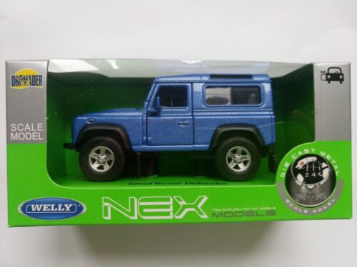 WELLY LAND ROVER DEFENDER 1:34 DIE CAST METAL MODEL NEW IN BOX