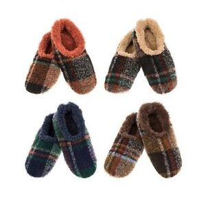 61d624dc69d2 SNOOZIES! Men s Plaid Slippers Foot Coverings with Non-Slip Sole 4 ...