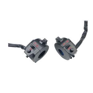 Aluminum 7//8in Motorcycle Handlebar Headlight On//Off Switch w// LED #Z Black