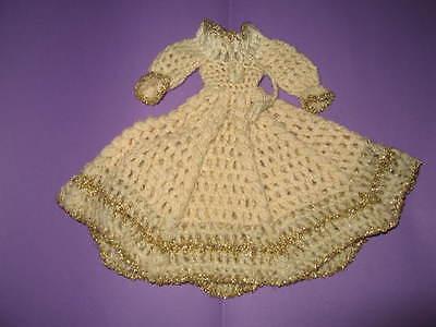 (146) Antico Stupendo Maglia-vestito Per Barbie U.a.29 Cm Mode Bambole Interamente A Mano-mostra Il Titolo Originale