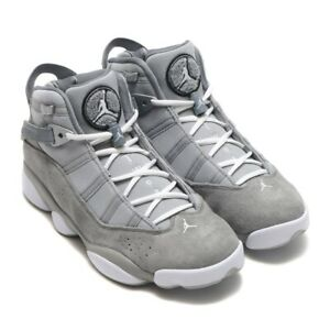 dfe299ecb87ead mens Air Jordan 6 Rings shoes 322992 014 Cool Grey Suede sz 13