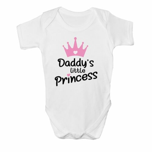 Daddy/'s Little Princess Pink Crown Cute Baby Grow Vest Girls Bodysuit Newborn