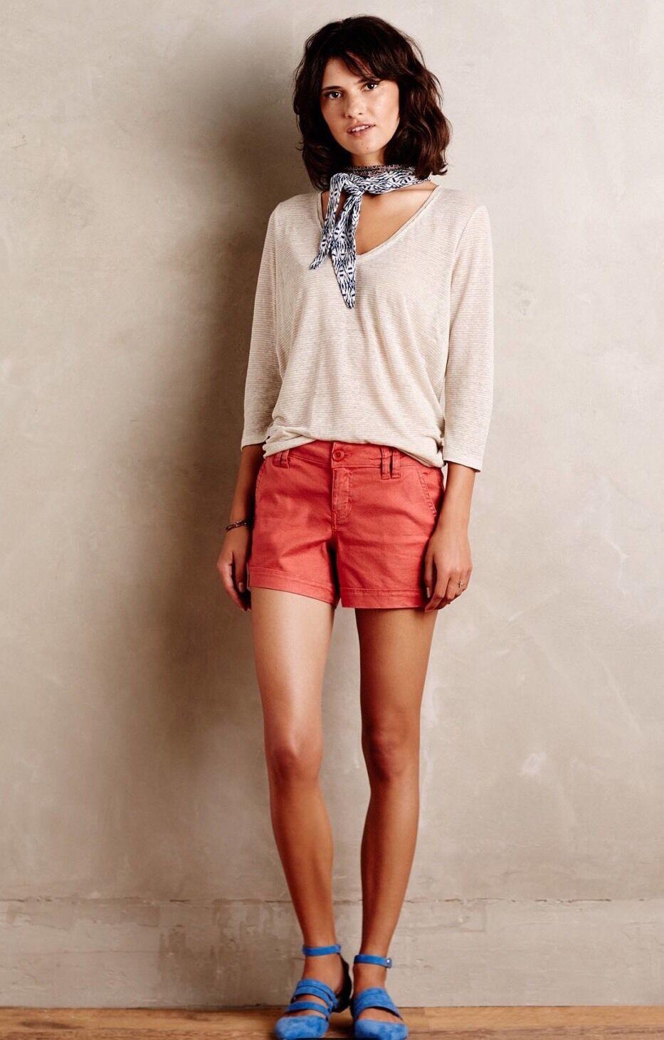 NWT Level 99 Fen Shorts Size 25 orange