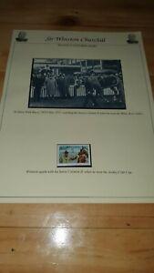 Winston-Churchill-cartolina-amp-TIMBRO-MUSEO-Nuovo-di-zecca-articolo-corse-di-cavalli-Dominica-1-2c