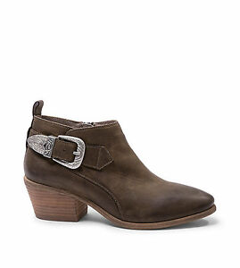 NIB-Steve-Madden-Womens-Green-Leather-Boots-Ankle-Booties-129