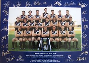 CARLTON-AFL-1995-LIMITED-EDITION-PREMIERSHIP-TEAM-POSTER-PRINT-SIGNED