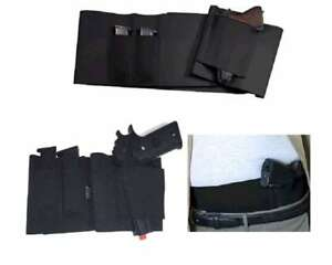Adjustable-Belly-Band-Holster-w-Mag-Pouches-FREE-Pistol-size-L