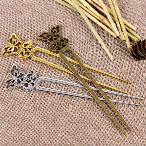 U Shape Retro Metal Hair Fork Hair Pin Hair Pick Square Hair Clip Hair Jewel HC