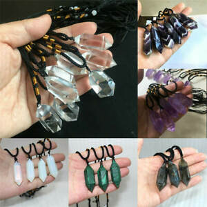 Natural-Crystal-Pendulum-Quartz-Stone-Pendant-Chakra-Healing-Gemstone-Necklace