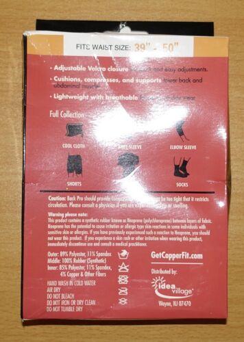 Back Pro Copper Fit Compression Garment Maximum Lower Back Muscle Support L//XL