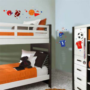 Details About Sports 47 Wall Stickers Basketball Football Soccer Room Decor Removable Decals
