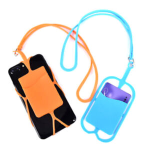 separation shoes c132b af4c4 Details about Universal Lanyard Cell Phone Neck Strap Case Cover Holder  With ID Card Slot HT