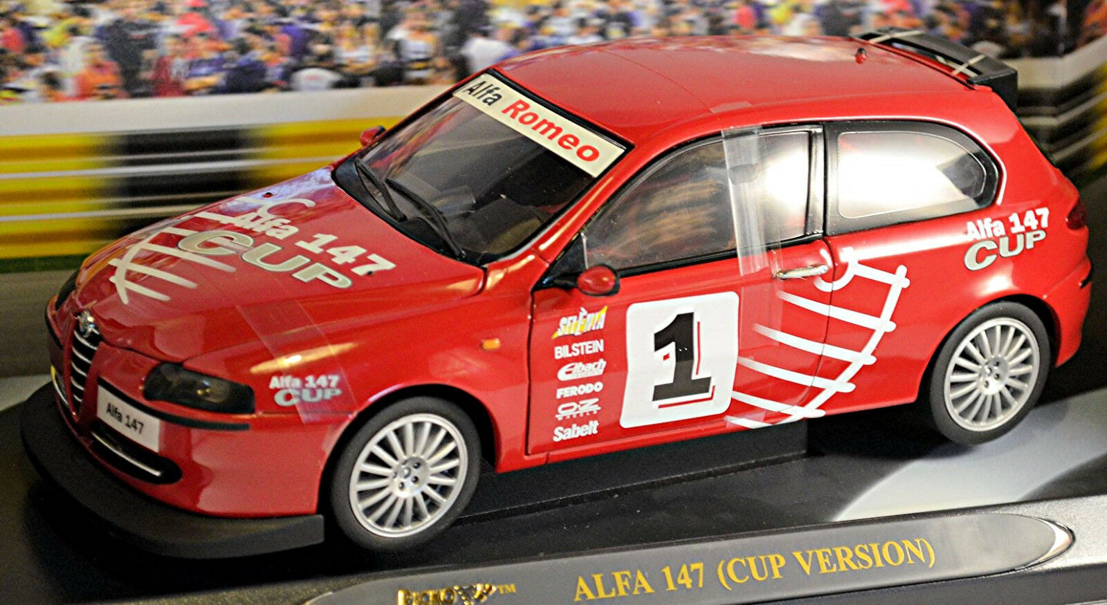 tomamos a los clientes como nuestro dios Alfa Alfa Alfa Romeo 147 copa versión 2002-04 rojo rojo 1 18 Ricko  Compra calidad 100% autentica