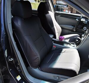 ACURA TL BLACK SLEATHER CUSTOM MADE FIT FRONT SEAT COVER - 2004 acura tl custom