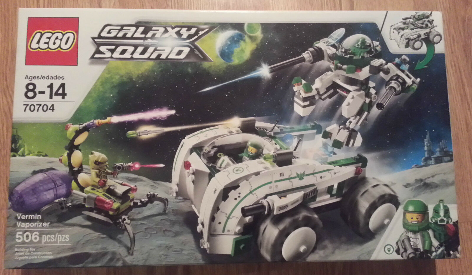 Lego Galaxy Squad Vermin Vaporizer set Sealed 506 Piece - Retired